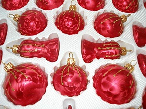 39 tlg glas weihnachtskugeln set in ice rot gold regen christbaumkugeln weihnachtsschmuck. Black Bedroom Furniture Sets. Home Design Ideas