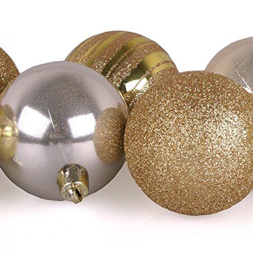 Glitzer Christbaumkugeln.9 Stck Weihnachtskugeln Gold Glitzer Christbaumkugeln Aus Kunststoff