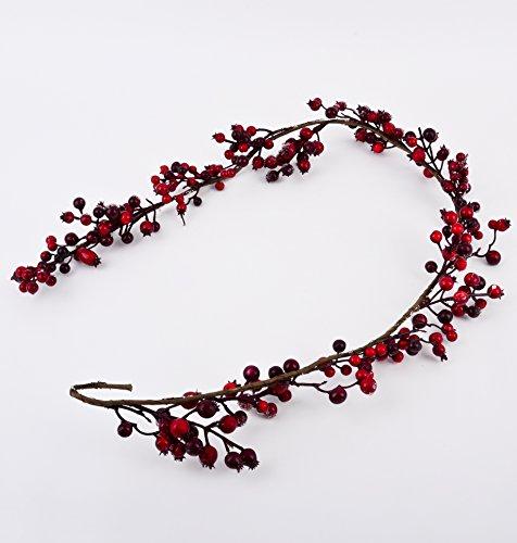 Girlande xmas deko natur 120cm rot weihnachtsdeko 0 - Weihnachtsdeko rot ...