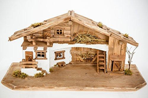 groe weihnachtskrippe w11 kf5 mit krippenfiguren figuren krippenstall weihnachten. Black Bedroom Furniture Sets. Home Design Ideas