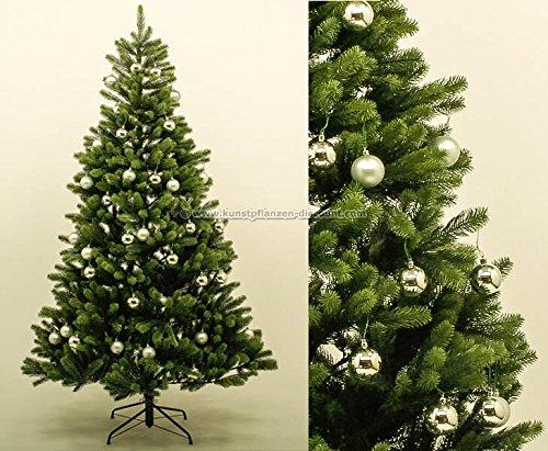 pe weihnachtsbaum mit silbernen kugeln 210cm 1156 tips mit. Black Bedroom Furniture Sets. Home Design Ideas