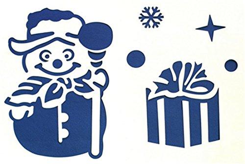 SHINA-6pc-Weihnachten-Glasfenster-Schnee-Spray-Vorlage ...