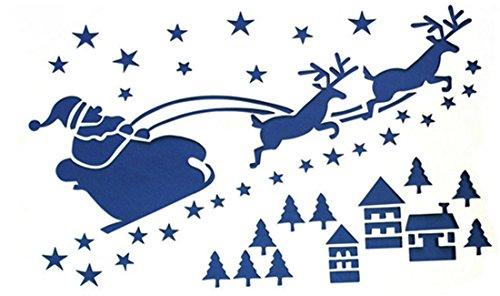 shina 6pc weihnachten glasfenster schnee spray vorlage. Black Bedroom Furniture Sets. Home Design Ideas