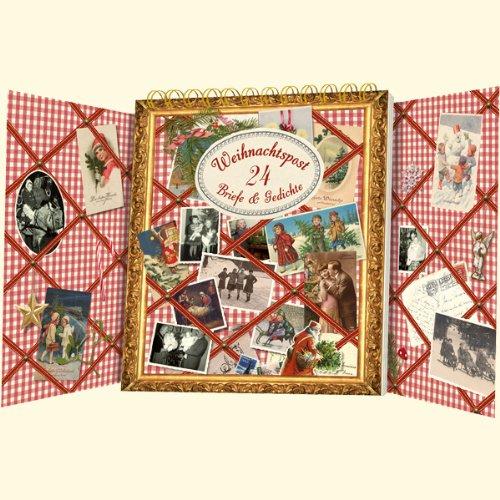 Weihnachtspost 24 briefe gedichte tisch for Design tisch adventskalender