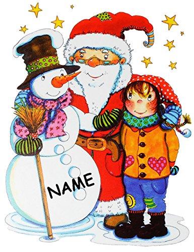 Statisch haftende fensterbilder nostalgische weihnachten incl name weihnachtsbaum tiere - Fensterbilder weihnachten ...